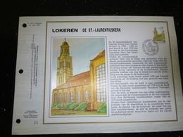 """BELG.1989 2331  """" LOKEREN """" Filatelistische Kaart Zijde NL.(CEF), Gelimiteerde Oplage - 1981-90"""
