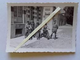 1939 1940 Amiens Motocyclistes Dragons Portés? Caserne Gribeauval Artillerie ? Motorisé Officiers Ww2 39-40 2WK  3 Phot - War, Military