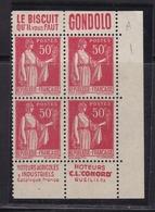 PUBLICITE: TYPE PAIX 50C ROUGE 2 BANDES VERTICALES GONDOLO/MOTEURS CONORD  ACCP 821/775 ET 820/776 NEUFS* - Publicités
