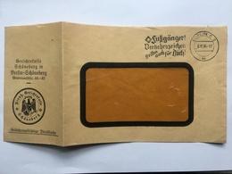GERMANY 1936 Gerichtstaffe Schoneberg  Cover With Slogan Postmark + Gebuhrenpflichtige Dienstsache - Brieven En Documenten