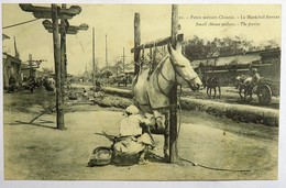 C. P. A. : CHINE, CHINA : Petits Métiers Chinois, Le Maréchal Ferrant, Small Chinese Pedlars, The Farrier, In 1908 - China