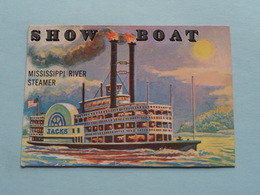 SHOW BOAT Mississippi River Steamer ( N° 147 - Copr. T.C.G. Inc. Printed In U.S.A. ) > See / Voir Photo ! - Schiffe