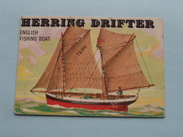 HERRING DRIFTER English Fishing Boat ( N° 148 - Copr. T.C.G. Inc. Printed In U.S.A. ) > See / Voir Photo ! - Schiffe