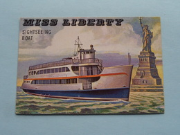 MISS LIBERTY Sightseeing Boat ( N° 175 - Copr. T.C.G. Inc. Printed In U.S.A. ) > See / Voir Photo ! - Schiffe