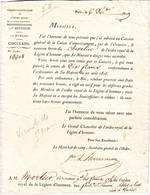 VICOMTE DE SAINTMARC , Legion D' Honneur Lettre De 1819 - Autographes