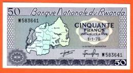 RWANDA - Billet 50 Francs 01 01 1976  Pick 7c - Rwanda