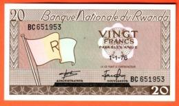 RWANDA - Billet 20 Francs 01 01 1976 Pick 6e - Rwanda