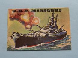 U.S.S. MISSOURI U.S. Navy ( N° 190 - Copr. T.C.G. Inc. Printed In U.S.A. ) > See / Voir Photo ! - Schiffe