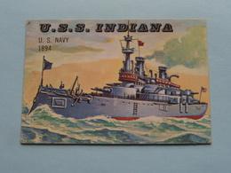 U.S.S. INDIANA U.S. Navy 1894 ( N° 180 - Copr. T.C.G. Inc. Printed In U.S.A. ) > See / Voir Photo ! - Schiffe