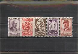 FRANCE DE 1943 - Bande N° 576 à 580  Neuf Trace De CH * - Neufs