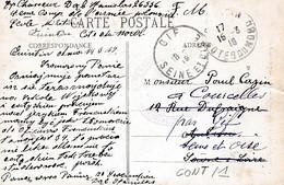 CACHET   CENTRE D INSTRUCTION  DES ELEVES GRADES   DE L ARMEE POLONAISE    SUR CP DE QUINTIN - Guerre 1914-18