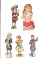 11524 - Lot De 5 Découpis, Petites Filles, - Children