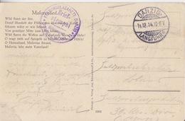 CP (Masuren) Obl Danzig Langfuhr B Le11/12/14 + Tampon Violet FestungsLazarett Danzig - Covers & Documents