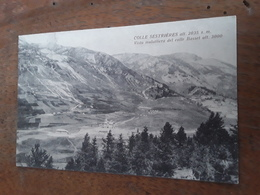 Cartolina Postale, Postcard 1925, Colle Sestrières, Vista Mulattiera Del Colle Basset - Other Cities