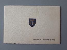 Carte De Voeux Ancienne : Croiseur Porte Hélicoptère Jeanne D'Arc  & - Bateaux