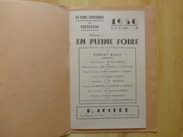 79 PARTHENAY 1950 EN PLEINE FOIRE PROGRAMME THEATRE - DEUX SEVRES - Programmes