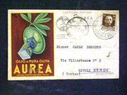 CARTOLINA -PUBBLICITARIA OLIO D'OLIVA AUREA PORTO MAURIZIO IMPERIA -F.P. LOTTTO N°1008 - Unclassified