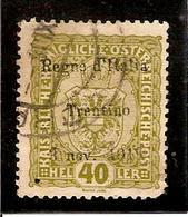 (Fb).Regno.V.E.III.Occupaz.1° Guerra.Trentino.1918.-40 Heller Usato,periziato (cat. 130,00) (19-11) - Trentin