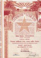 CONGO-LUBILASH. CIE DU ... KISAMBA-LOMAMI.  DECO - Acciones & Títulos