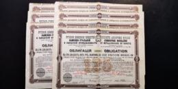 RUSSIE UKRAINE 7 X INDUSTRIE HOUILLERE METALLURGIQUE DU DONETZ Obligations 1896 - Other