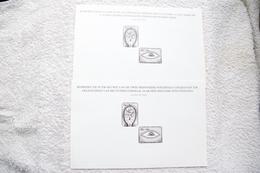 """2 Feuillets Noir Et Blanc """"A L'occasion De L'année Internationale Des Personnes Handicapées"""" 1982. - Black-and-white Panes"""