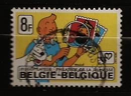 Belgique Belgie 1979 N° 1939 O Philatélie, Jeunesse, Tintin, BD, Bande Dessinée, Hergé, Chien, Milou, Tournesol, Haddock - Used Stamps