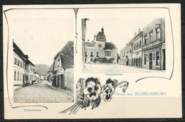 Ansichtskarte   Gruss Aus Wilhelmsburg  Hauptstrasse - Färberstrasse - Unclassified