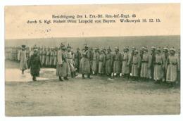 BL 10 - 8212 WOLKOWYSK, Leopold Von Bayern Inspecting Ground Troops - Old PC. - Used - 1916 - Weißrussland