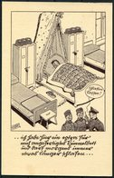 1940 Germany Army Comic Feldpost Fieldpost Postcard. Frankfurt Machine Slogan - Berlin - Allemagne