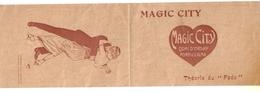 """Petit Dépliant Théorie Du Fado Magic City """"Magic Fado Créé à Magic City"""" Professeur Montel - Publicidad"""