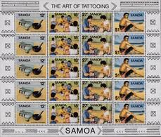 Samoa 1981 Art Of Tattooing Sc 561 Mint Never Hinged - Samoa