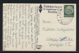 Deutsches Reich Ansichtskarte L3 Sommerlager Der Jungmädelgruppe 42/107 Brandis - Germany