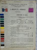 CATALOGUE TARIF PUBLICITE PEINTURES HUILE DE LIN GRILLIET SENECHAULT FAUBOURG SAINT LAZARE 86 POITIERS 1880 - 1800 – 1899