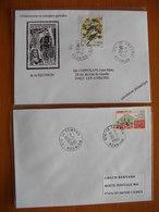 Réunion : Deux Lettres Avec Cachets Du Tampon Et De Saint-Joseph  (1996) - Réunion (1852-1975)