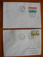 Réunion : Deux Lettres Avec Cachets De Saint-Pierre   Et De La Petite Ile (1996) - Réunion (1852-1975)