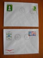 Réunion : Deux Lettres Avec Cachets De Hell-Bourg  Et De Cilaos  (1988) - Réunion (1852-1975)