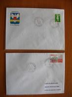 Réunion : Deux Lettres Avec Cachets Des Petits Bureaux De Plateau-Caillou  (1991) Et De La Rivière Des Galets GA (1996) - Réunion (1852-1975)