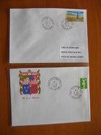 Réunion : Deux Lettres Avec Cachets De Saint-Louis (1996) Et De La Petite-Ile   (1990) - Réunion (1852-1975)