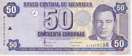 BILLETE DE NICARAGUA DE 50 CORDOBAS DEL AÑO 2002 (BANKNOTE) - Nicaragua