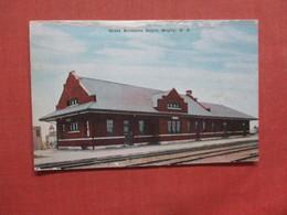 Great Northern Depot  Rugby--  Top Border Paper Peel   North Dakota >     Ref 3998 - Autres