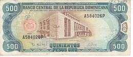 BILLETE DE REP. DOMINICANA DE 500 PESOS ORO DEL AÑO 1997 SERIE A (BANKNOTE) - Dominicana