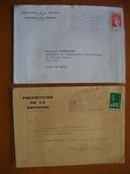 Réunion : Deux Lettres Avec En-tête De La Préfecture  Dont Le Cabinet Du Préfet (1977 Et 1980) - Réunion (1852-1975)