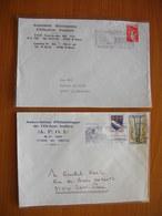 Réunion : Deux Lettres Avec En-tête De L'Association Réunionnaise D'éducation Populaire Et De L' APOI - Réunion (1852-1975)