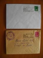 Réunion : Deux Lettres  «La Réunion France De L'Océan Indien » L'une Avec Date Dans La Flamme, L'autre Sans - Réunion (1852-1975)