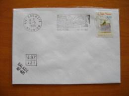 Réunion : Quatre Lettres Au Départ De Salazie (1889 à 1999) Avec Cachets Divers - Réunion (1852-1975)