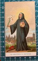 Beata Beatrice Estense SANTINO Con Preghiera - Santini