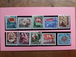 GERMANIA DDR 1953 - 70° Anniversario Morte Carlo Marx - Nn. 344/53 Timbrati + Spese Postali - [6] Oost-Duitsland