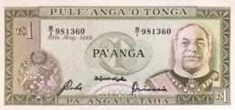 Tonga 1 Pa'anga, P-19c (20.5.1988) - UNC - Tonga