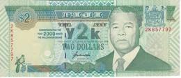 BILLETE DE FIJI DE 2 DOLLARS DEL AÑO 2000 SIN CIRCULAR - UNCIRCULATED (TORTUGA-TURTLE)   (BANKNOTE) - Fidschi