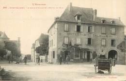 MONTBAZENS  L'avenue D'Aubin Et L'hotel Du Midi - Montbazens
